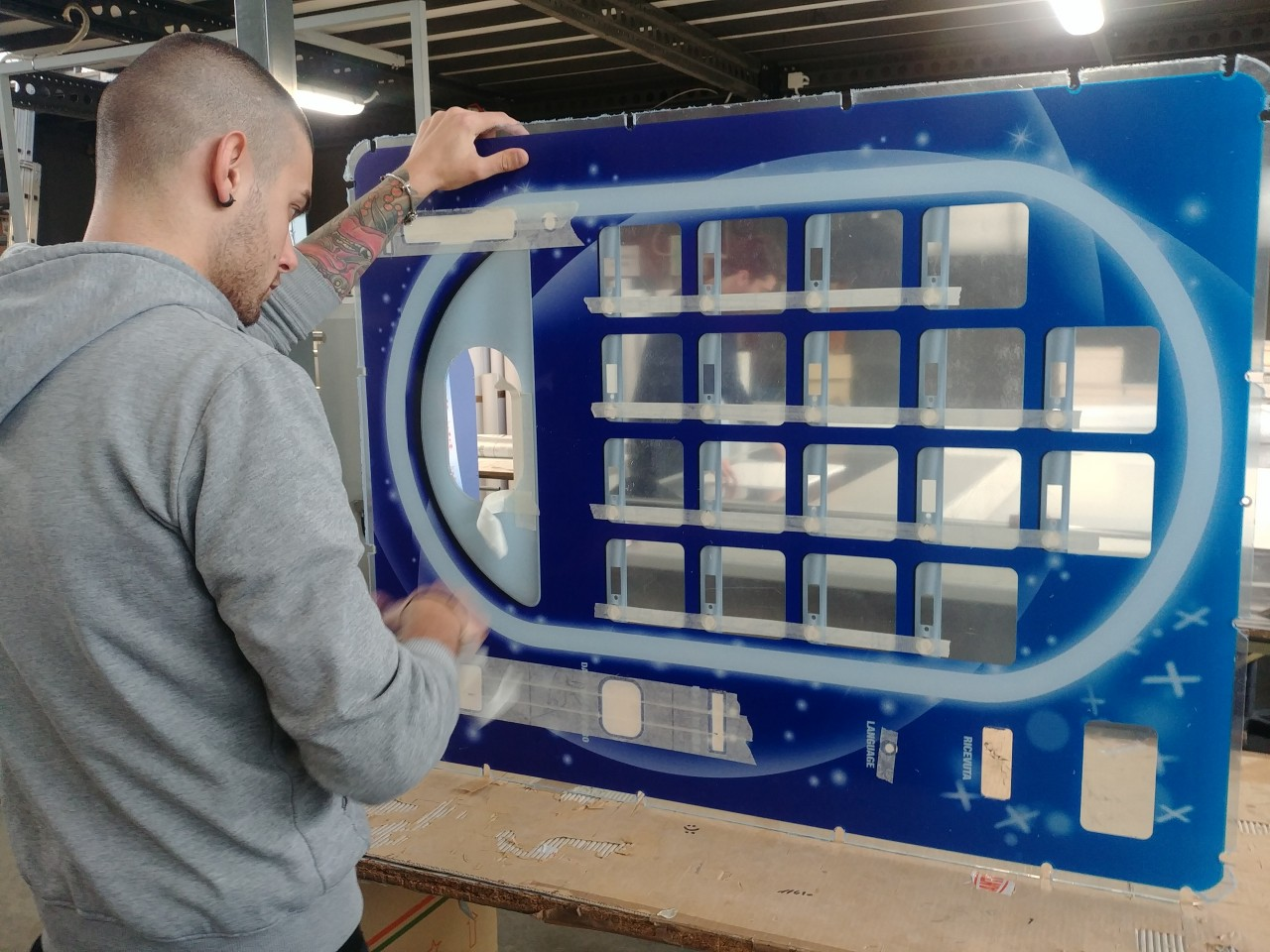 Lavorazione e stampa plexiglass