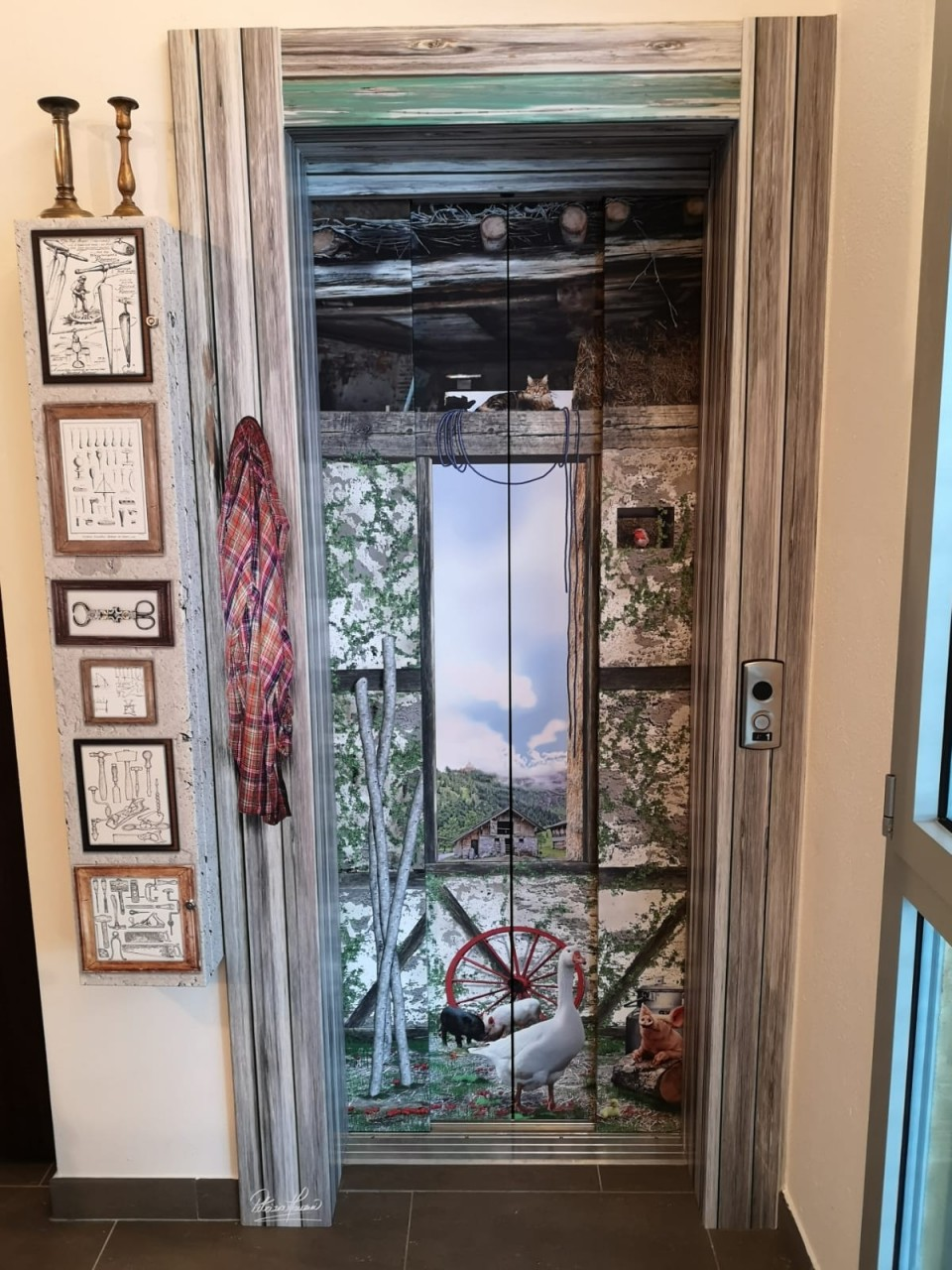 rivestimento ascensore