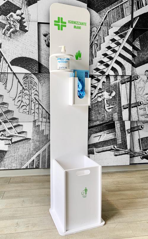 Colonna dispenser porta igienizzante mani colonnina per disinfettante gel